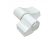 Paumelle Loira+ douille à visser rupture Blanc 9010 FAPIM - sans kit de fixation entraxe 67 ép.20 FAPIM - 7010VI-32