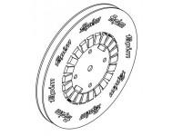 Tringle polyamide 1683 FAPIM pour galiplus 2/3/4 pour machine FP13/FP14 - Noire - le mètre - 1683_88