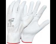 Gant cuir blanc SINGER tout fleur de bovin - manutention légère à sec - taille 9 - 50F09
