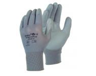 Gant nylon enduit gris SINGER - Manutention légère en milieu sec - Taille 10 - NYM213PUG10