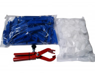 Set de cales Nivofix HEKA - 100 pièces + languette - avec pince - 014689