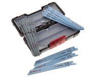 Coffret de lames pour scie sabre BOSCH - bois et métal - 15 pièces - 2607010901