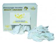 Carton 10 Kg de chiffons essuyage industrie blanc - D013ECX