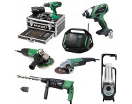 Lot Perceuse + 6 outils -2 batteries 18V 2,5Ah Hitachi/Hikoki