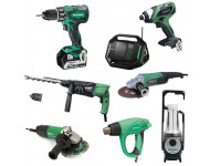 Lot Perceuse + 7 outils -2 batteries 18V 5Ah Hitachi/Hikoki