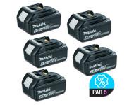 Lot de 5 batteries MAKITA BL1830 - 18V 3.0 Ah