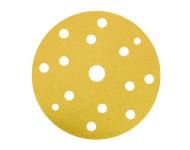 Disque papier velcro souple HERMES - VC154 - Ø 150 - 17 trous - EB137 - G 100 - Lot de 100 - 6250642