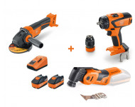 Pack 3 Machines 18V FEIN Perceuse ASCM18QSW + Perfo ABH 18 + Multimaster AMM 500 plus + 2 batteries 6Ah