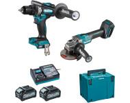 Ensemble de 2 machines 40 V max Li-Ion 4 Ah XGT (DF001G + GA005G) MAKITA - DK0124G201