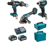 Ensemble de 3 machines 40 V max Li-Ion 4 Ah XGT (DF001G + GA005G + TD001G) MAKITA - DK0125G301