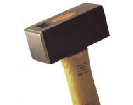 Massette carrée manche Hickory MOB MONDELIN - L.260 Tête 100x41x45 mm - 0127120301