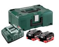 Pack énergie 18V METABO - Pack 2 Batteries 18 volts LiHD + Chargeur ultra rapide 2 x 8,0 Ah LiHD, ASC 145, coffret Metaloc - 685131000