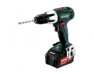 Perceuse à percussion METABO - SB 18V - LT 1 x 2,0 Ah compact + 1 x 5,2 Ah Li-Power, ASC 55V, coffret - 602103970