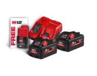Kit 2 batteries + chargeur M18HNRG-552 NRG MILWAUKEE - 4933464713
