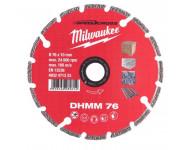 Disque diamant multi matériaux MILWAUKEE 76 mm - 4932471333