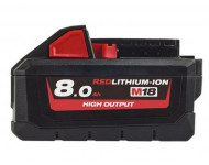 Batterie M18 HB8 18V 8Ah High-Output Red Lithium MILWAUKEE - 4932471070