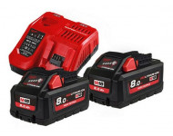 Pack Batterie NRJ 18V 8Ah High-Output Red Li-Ion MILWAUKEE - 4933471073