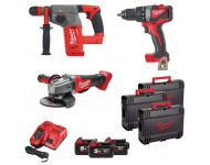 Pack 3 outils 18V + 3 Batteries 5Ah + Chargeur M18 FPP3J-503X MILWAUKEE - 4933472244