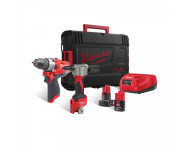 Pack perceuse-visseuse + riveteuse 12V + 2 Batteries 2/4Ah + Chargeur + HDBox MILWAUKEE - 4933471682