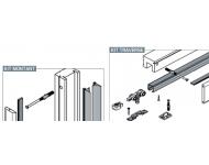 Système porte coulissante en applique Applisystem FIBROTUBI - Montant - 92030004