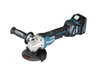 Meuleuse MAKITA Ø125 mm 18V Li-Ion + 2 batteries 5.0 Ah, chargeur, coffret - DGA517RTJ