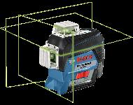 Laser ligne BOSCH GLL 3-80 CG Professional - 3 lignes vertes - Sans batterie, ni chargeur - 0601063T03