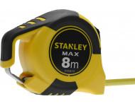 Mètre ruban STANLEY Double marquage avec crochet magnétique - 8m x 25mm - STHT0-36118