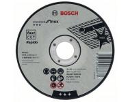 Disque à tronçonner BOSCH à moyeu plat Standard Inox Rapido 125X1 MM - 2608603171