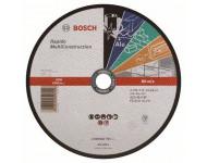 Disque UNIVERSEL à tronçonner BOSCH à moyeu plat Rapido Multi Construction 230X1.9 MM - 2608602767