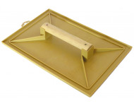 Taloche jaune rectangle 18x27mm plastique poignée bois MOB MONDELIN - 311120