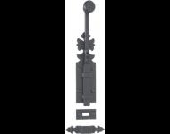 Verrou rustique 1307 BOUVET 400 mm - fer noir - 20748