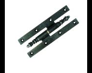 Paumelle picarde rustique noire 190x70 mm - gauche - PR197GE