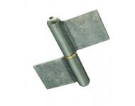 Paumelle de grille lame au centre acier TORBEL - H.100 Ø50 mm - GSNR100