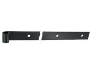 Penture droite - Bout carré percée - Epoxy noir - Hauteur : 40mm x épaisseur 6mm  - Ø14 mm Longueur : 450MM