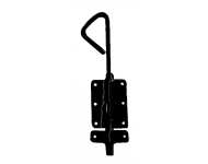 Verrou baïonnette coulisseau supplémentaire MERMIER Ø18 x 800 mm - Zingué noir - M-429802