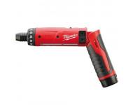 Tournevis électrique MILWAUKEE M4 D-202B - 2 batteries 4V 2.0 Ah - 4933440475