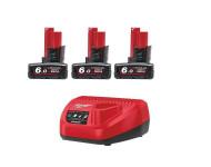 Pack NRJ 12V 6Ah Red Lithium Systeme M12 NRG-603 MILWAUKEE - 4933459208
