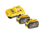 Pack 2 batteries XR Flexvolt 18V/54V 12Ah/4Ah Li-Ion + Chargeur - DCB118Y2-QW