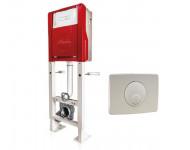 Bati-support NICOLL pour WC auto-portant - Polymère/acier Happy support + plaque - WBS2PAP