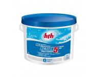 Chlore HTH Stabilisé ACTION 5 - Spécial LINER - Seau de 5kg - K801791H1