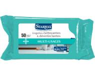 Lingettes STARWAX nettoyantes désinfectantes multiusage - Sachet de 50