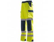 Pantalon haute visibilité jaune/bleu SINGER - coton 60/poly.40% - 280gr/m² - PILA
