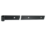 Penture droite - Bout carré percée - Epoxy noir - 1PD82