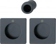 Set pour porte coulissante HOPPE M443 - Finiton F9714M Noir mat - 11621