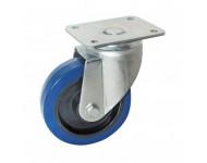 Roulette pivotante AVL - à platine - caoutchouc bleu - Ø200 - 527736