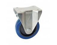 Roulette fixe à platine rectangulaire AVL - Roue caoutchouc bleu Ø 160 - Charge 300 kg - 527725