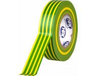 Ruban PVC Jaune-Vert pour électricien 19mm x 20m HPX - IE1920