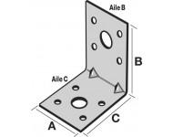 Équerre d'assemblage SIMPSON - A40xB50xC50x2mm - EA554/2