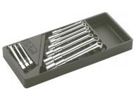 Module abs 1/3 de 10 clés à pipe débouchées satinées 6/12 pans SAM - 93J10M