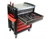 Composition 214 outils en module mousse + servante SAM - CPP214MMS